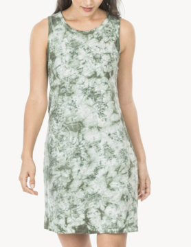 Lilla P Lilla P Tank Dress Green Tie Dye