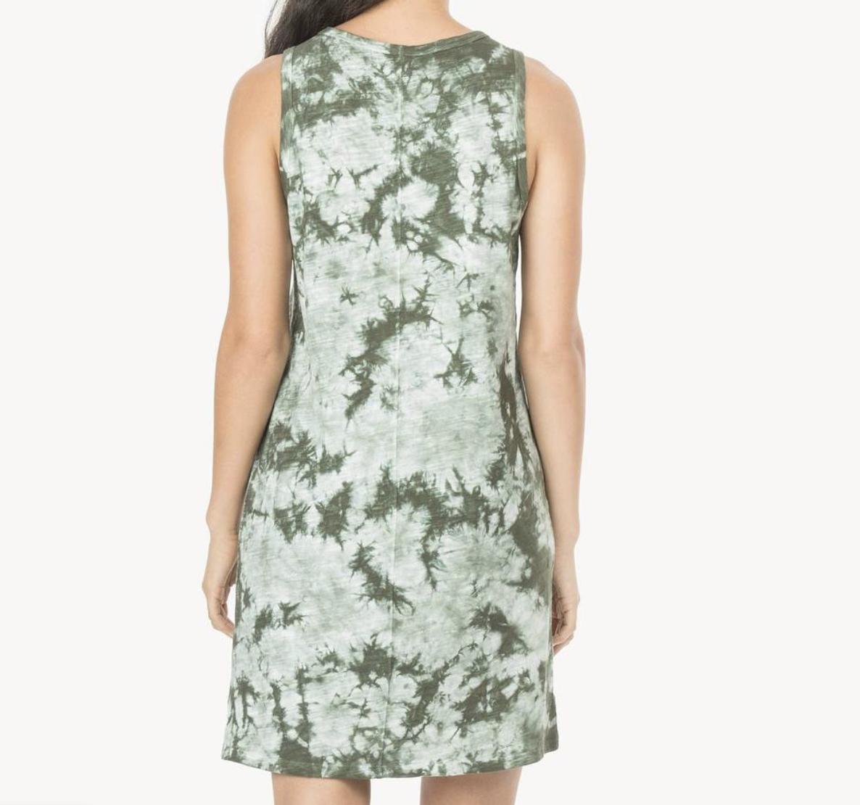 Lilla P Lilla P Tank Dress Green Tie Dye PA0791