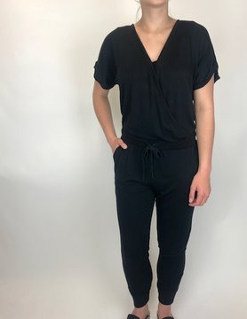 Z Supply Z Supply Wrap Front Jumpsuit Black
