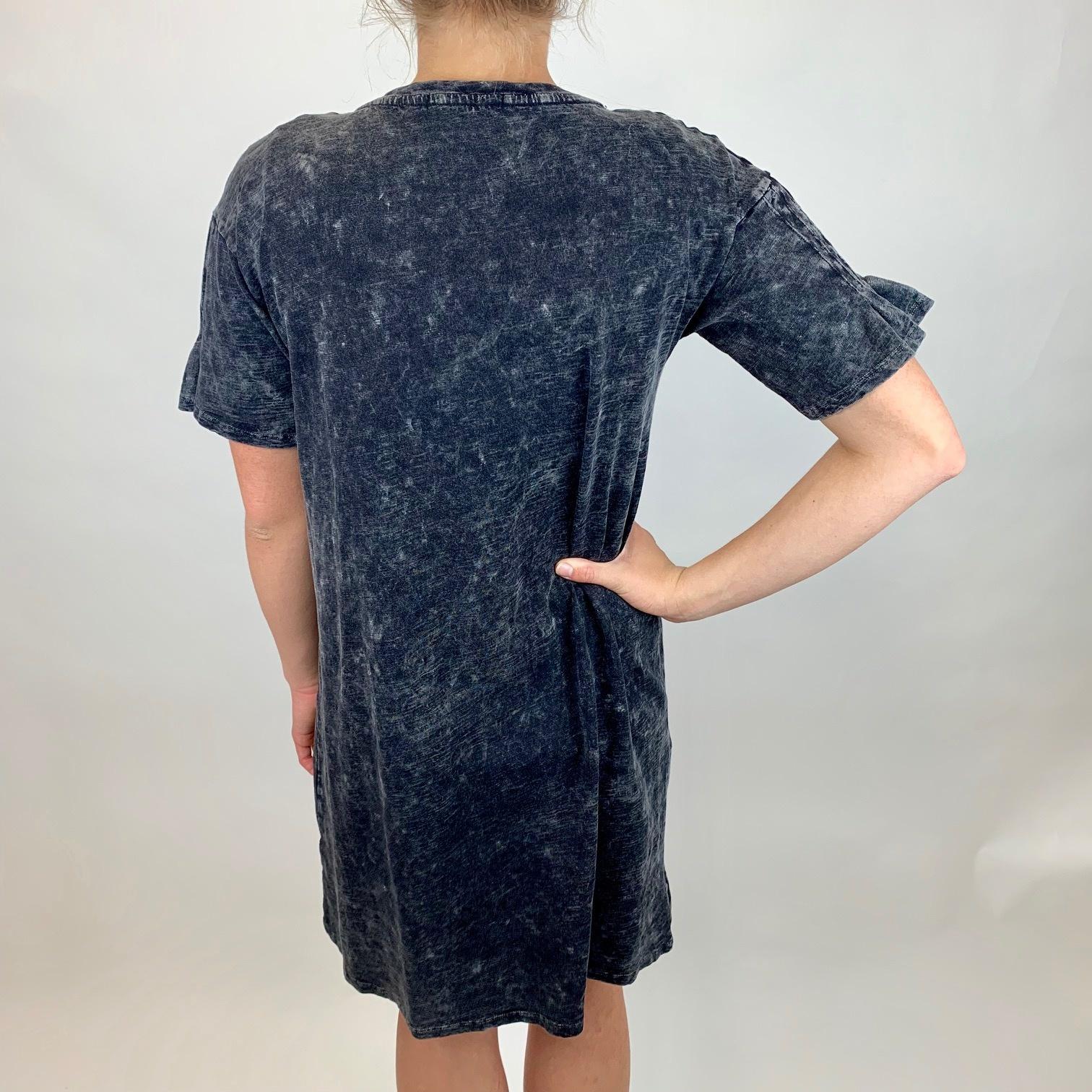 Mod-o-doc Mod-O-Doc T Shrt Dress w/Pintk BLK 439-87759
