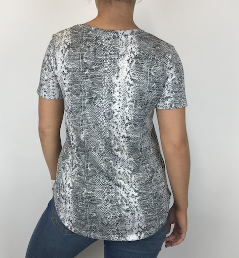Z Supply Z Supply Snakeskin V Neck Gry ZT192949