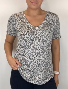 Z Supply Z Supply Leopard V Neck Natural