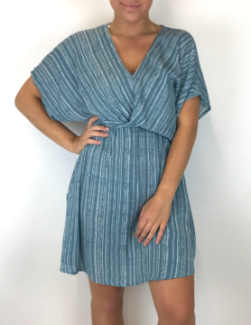Staccato Staccato V Nck Stripe Dress Blue