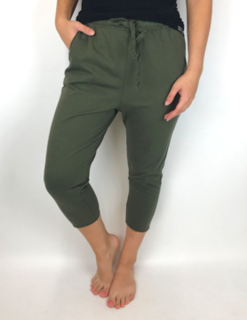 mittoshop Mittoshop Terry Distressed Jogger Army Green
