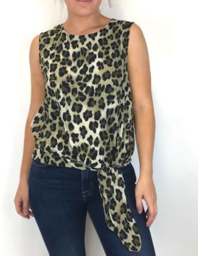 mittoshop Mittoshop Leopard Tie S/L Olive