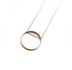 Larissa Loden Larissa Loden Horizon Circle Necklace Small
