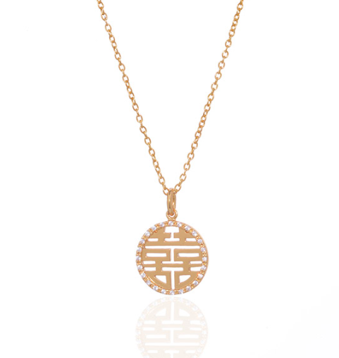 anuja tolia jewelry Anuja Decimal Necklace Gold 434P151