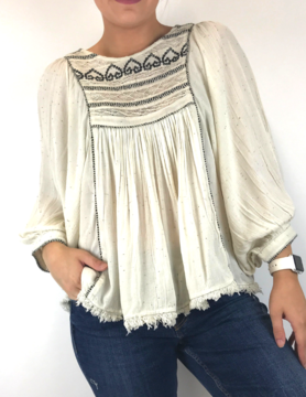 free people Free People Cyrus Ave Emb Top Ivy