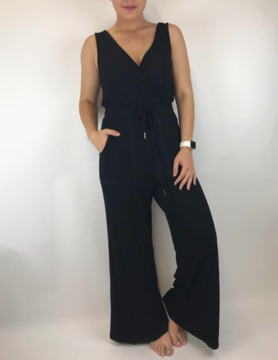 mittoshop Mittoshop Wrap Jumpsuit Black