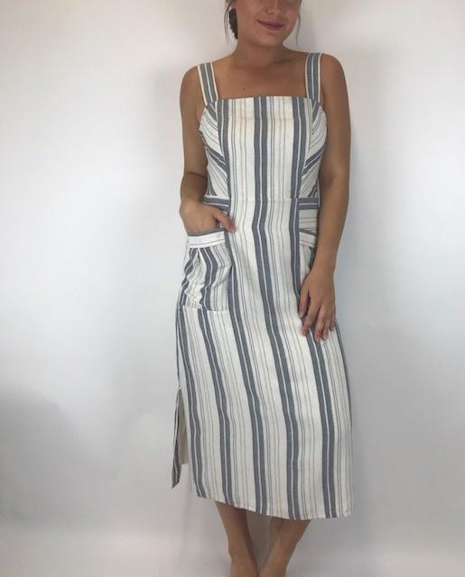 splendid Splendid Tank Pkt Dress Nat/Nvy RM9D341SE