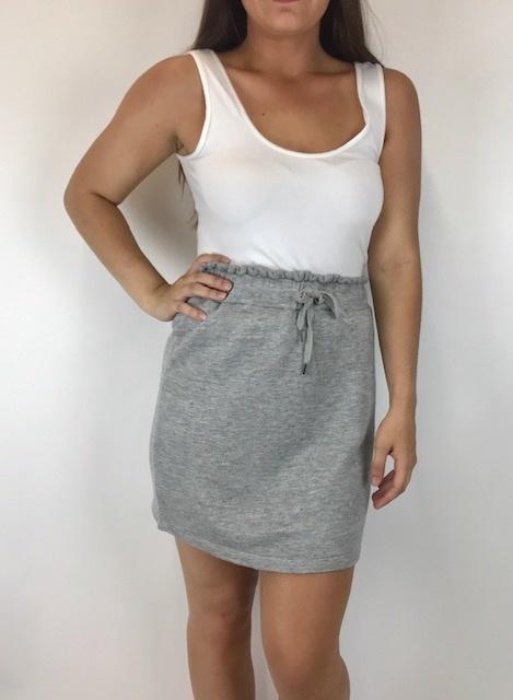 splendid Splendid Paperbag Skirt Hthr Gry RM9A91GSE