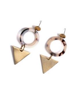 trim & tailor Trim & Tailor Vivian Tortoise Earring