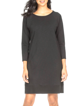 Lilla P Lilla P Raglan Dress Blk PA0850