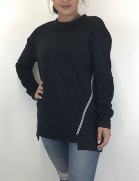 Lysse Lysse Black Sweatshirt Top
