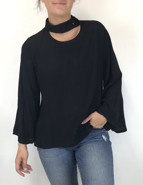 M Made In Italy M Made in Italy Flare Top Black