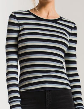 Z Supply Z Supply Pamina Stripe Rib T Blk