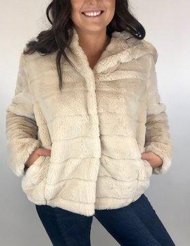 Esqualo Esqualo Fake Fur Hood Jacket