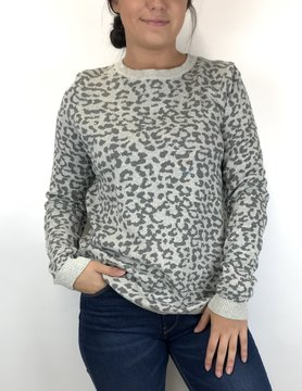 Staccato Staccato Leopard Crew P/O Sweater Grey