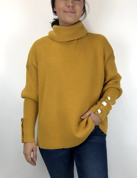 Esqualo Esqualo Gold Cowl Sweater
