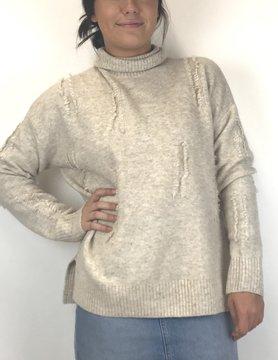 Esqualo Esqualo Fringe Sweater Beige