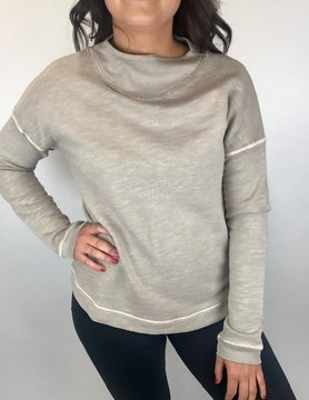 Mod-o-doc Mododoc Funnel Neck Sweatshirt Pebble