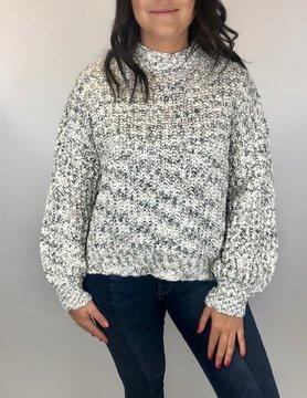 wild heart Woven Heart Ivory Sweater