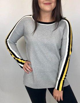 Elena Wang Elena Wang Grey Stripe