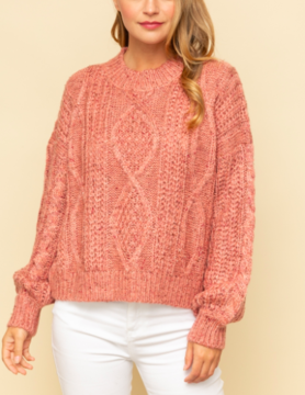 Mystree Mystree Rose Textured Sweater
