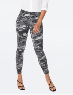 Not Your Daughter Jeans NYDJ Ami Skinny Gry Camo MSPAAS2320