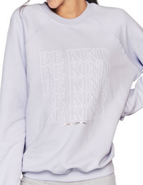 Spiritual Gangster Spiritual Gangster Be Kind Classic Crew Swtshrt Light Blue