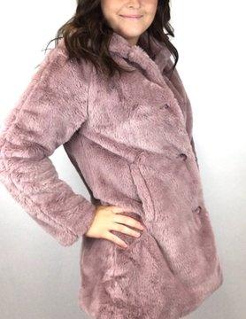 Esqualo Esqualo Fake Fur Coat Lilac