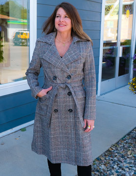 SISTERS Sisters Trench Plaid WL208