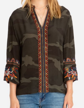 Johnny Was Johnny Was Lailani Paris Blouse Forest Camo
