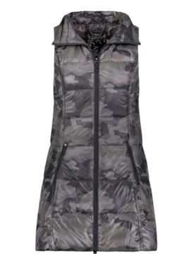 anorak Anorak Black Camo Puffer Vest