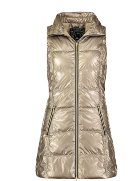 anorak Anorak Gold Met Puffer Vest