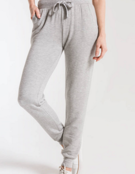 Z Supply Z Supply Premium Fleece Jogger Heather Gry