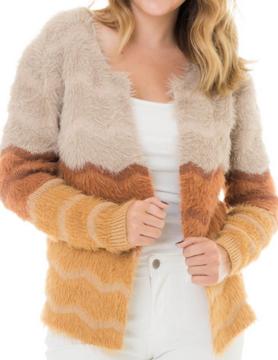 wild heart Woven Heart Mustard Fur Coat