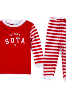 Sota Clothing Sota Toddler Oslo PJ Set Red/Wht Stripe