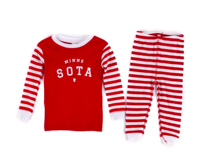 Sota Clothing Sota Toddler Oslo PJ Set Red/Wht Stripe