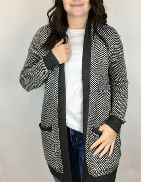 Staccato Staccato Open Pkt Cardi Charcoal