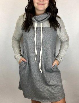 mittoshop Mittoshop H Grey Cowl Dress