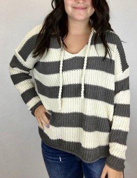 mittoshop Mittoshop Cream/Gry Stripe Sweater
