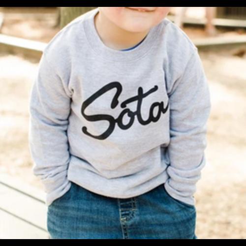 Sota Clothing Sota Powderhorn Todlr Crew Gry/Blk