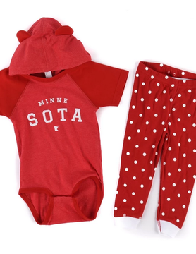Sota Clothing Sota Plato Hoodie Onesie Set Red/Wht
