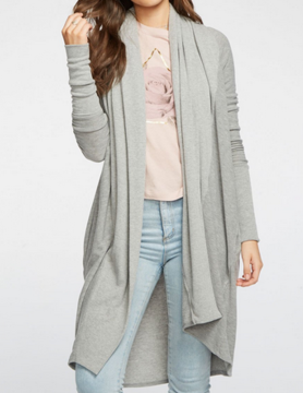 Chaser Chaser Cozy Knit L/S Duster Hthr Gry