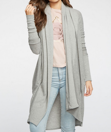 Chaser Chaser Cozy Knit L/S Duster Hthr Gry CW7972