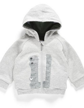 aimama Aimama Croc Hooded Jkt Lt Grey