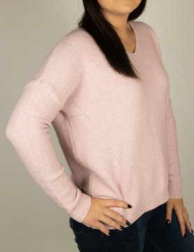 M Made In Italy M Made in Italy Knit L/S Loose Swtr Blush