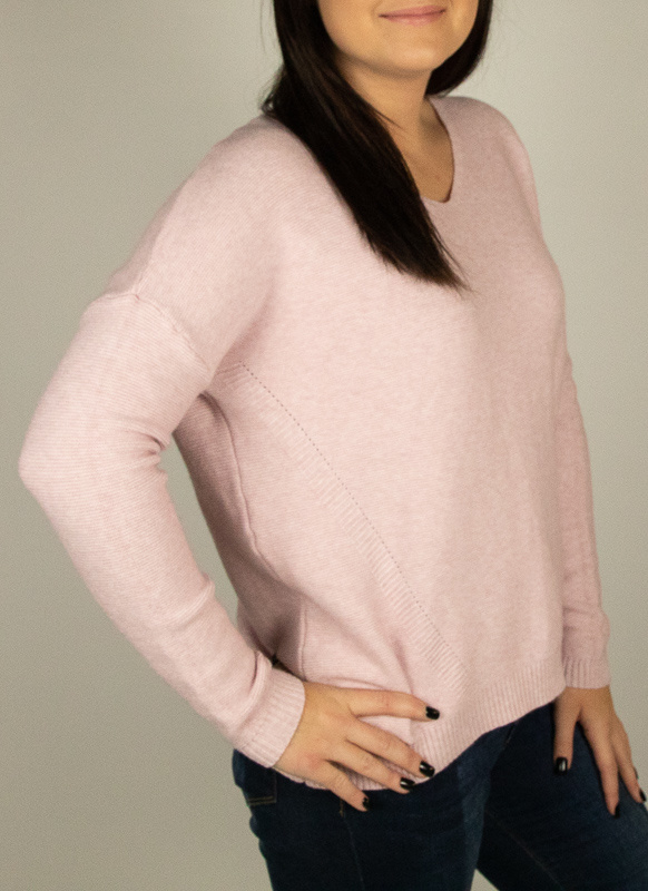 M Made In Italy M Made in Italy Knit L/S Loose Swtr Blsh 33/2972L