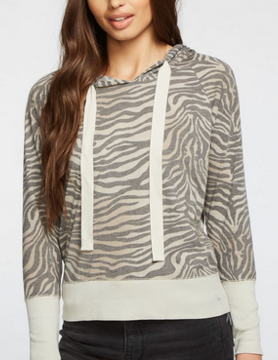 Chaser Chaser Vint Jers Hoodie Zebra